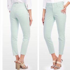 NYDJ Skinny Ankle Jeans Mint Green Size 2 EUC
